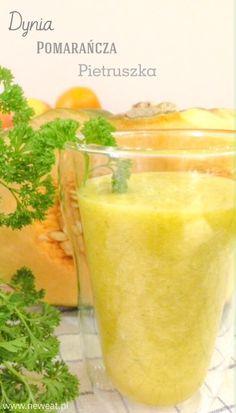 New Eat - nowy styl jedzenia, nowy styl życia!: Dyniowo-pomarańczowe smoothie z akcentem zielonej pietruszki