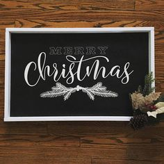 Ideas For Holiday Party Sign Christmas Sweaters Merry Christmas Sign, Christmas Chalkboard, Christmas Signs Wood, Holiday Signs, Rustic Christmas, All Things Christmas, Christmas Crafts, Christmas Decorations, Christmas Bedroom