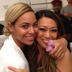 Beyonce and Mally Roncal. Beyonce uses Mally beauty