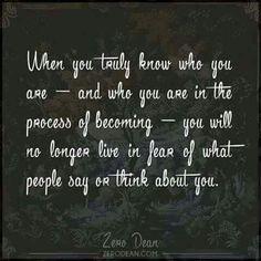 I know me...