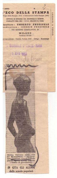 Ritaglio Storico del 1953 - G.Albano