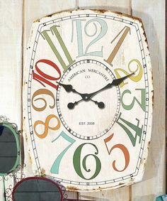 Look what I found on #zulily! Tall Wooden Wall Clock #zulilyfinds