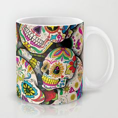 Sugar Skull Collage Mug