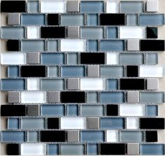 Blue Subway Tile Backsplash Or Maybe A Mint Color Dark Wood Cabinets With Neutral Gray White Black Granite Counter Tops With Elements Of B