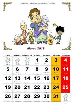Marzo - Calendario Les Luthiers 2018