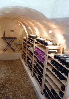 I would have sleep-overs in my wine cellar!