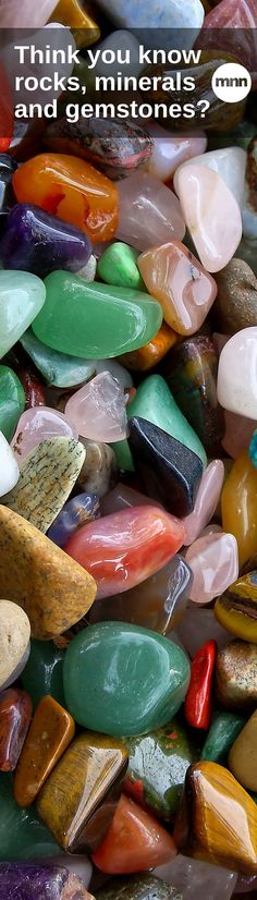 How well-versed are you in the world of rocks, minerals and gemstones? Minerals And Gemstones, Crystals Minerals, Rocks And Minerals, Stones And Crystals, Healing Crystals, Raw Gemstones, Gem Stones, Rock Hunting, We Will Rock You