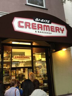 Bi-Rite Creamery Favorite ice cream place in the city. The salted caramel ice cream is worth the wait!