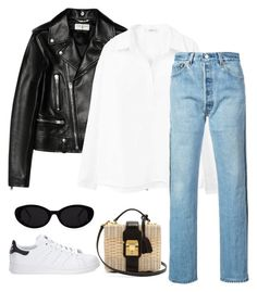 """""""Untitled #129"""" by happysamson on Polyvore featuring Mark Cross, adidas, Yves Saint Laurent, MANGO and RE/DONE"""