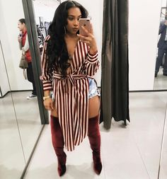 Lovely Plus Size Outfits Ideas For Autumn 2018 27 Source by size fashion for women black girl Black Women Fashion, Curvy Fashion, Look Fashion, Autumn Fashion, Womens Fashion, Chic Outfits, Fall Outfits, Fashion Outfits, Fashion Vest