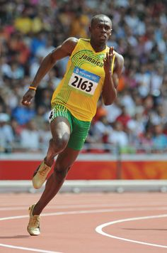 Usain Bolt, Jamaican sprinter who won gold medals in the and races in an unprecedented three straight Olympic Games. Usain Bolt Biography, Usain Bolt Pose, Usain Bolt Running, 2004 Olympics, Olympic Athletes, Fastest Man, Fit Board Workouts, Action Poses, Sports Stars