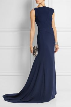 Vionnet  Asymmetric stretch-crepe gown   NET-A-PORTER.COM