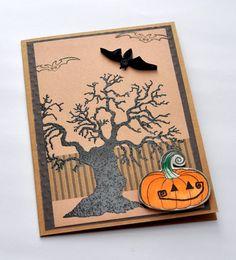 #Halloween Card Halloween Bat Pumpkin Card Quilled Bat Quilled Halloween Card Paper by @papersimplicity