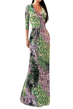 Sexy Leopard Purple Green V-neck Maxi Wrap Dress U.S.A - ... http://www.amazon.com/dp/B01EAZYVT6/ref=cm_sw_r_pi_dp_6rZvxb1XTSKE4