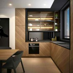 Kitchen Pantry Design, Loft Kitchen, Luxury Kitchen Design, Apartment Kitchen, Home Decor Kitchen, Interior Design Kitchen, Home Kitchens, Latest Kitchen Designs, Cuisines Design