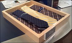 This wood tray helps focus attention on neckties at the cash wrap . a last ditch attempt to make sure you are fully outfitted before leaving. It does elevate the item's status, but how else might. Cash Wrap, Retail Merchandising, Wood Tray, Bunk Beds, Neckties, Trays, Furniture, Home Decor, Decoration Home