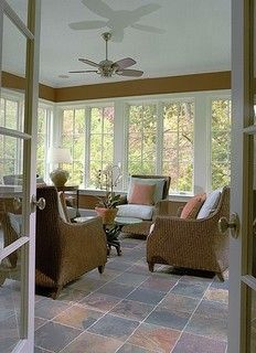 Sun room; simple, clean space