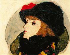 Egon Schiele : Portrait d'Ida Roessler, 1912