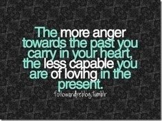 Very true it will cause problems later better to let go and move on