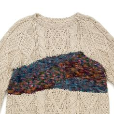 Design Inspiration | texture clash, aran stitch pattern with thick and thin space-dyed yarn