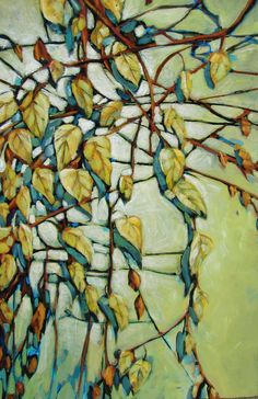 Yellow Cascade - jill van sickle - paintings