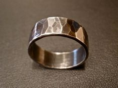 Textured Ring in Oxidized Sterling Silver by OddsAndEndsByKaley, $38.00