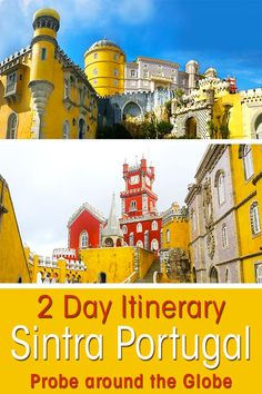 Visit Sintra is a must do in Portugal. But don't just take a day trip from Lisbon! Stay overnight in Sintra and explore more of the area. I give you the perfect 2 day Sintra itinerary to enjoy the best that Sintra has to offer. Where to stay, what to see in Sintra and more practical tips. #portugal #sintra #travel #europe #travelitinerary #penapalace