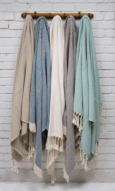 Brahms Mount Cotton Herringbone Throws Nickey · Kehoe specializes in residential & commercial interior design, including bi-coastal residences, hotels and restaurants. Rm 1, Turkish Bath Towels, Winter Blankets, Winter Scarves, Textiles, Cotton Throws, Home Accessories, My Style, Clothes