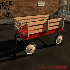 The Classic.   Low poly render of the iconic red wagon. Created in Cinema4D by Conrad Veddern.