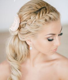 Creative Wedding Hairstyle with a Braid / Bridal Hair