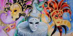 Oil on canvas Venetian Masks Mask Drawing, Painting & Drawing, Circus Art, Carnival Masks, Venetian Masks, Arts Ed, Gcse Art, Cover Pics, Masquerade