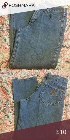Carhartt Jeans Like new condition Carhartt denim jeans. Very gently worn with no rips,stains or signs of wear. These jeans my have been worn twice. 32x32 Carhartt Jeans Straight