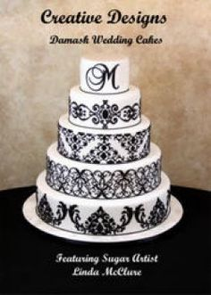 Damask wedding cake