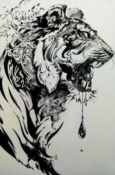 Tiger Illustration by Nekoshowgun. Powered by Elebra! Tattoo Drawings, Body Art Tattoos, Tatoos, Art Drawings, Tattoo Pics, Sketch Tattoo, Wrist Tattoos, Maori Tattoos, Samoan Tattoo