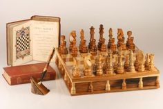 Senator Tree Chess Set with the Chess Player's Handbook and Senator Tree Pen