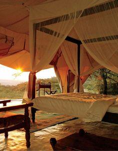 Camping in the middle of an African Safari Park! Masai Mara, Kenya Kenya. http://www.travelandtransitions.com/destinations/destination-advice/africa/