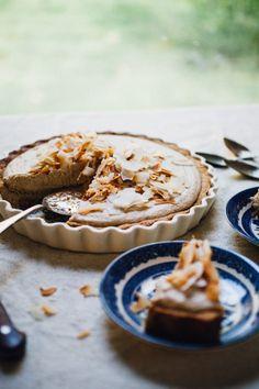 vegan coconut cream pie   recipe via willfrolicforfood.com