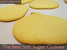 The Best Soft Sugar Cookies @ jollycrumbs.com