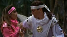 Kimberly runs over to Tommy and helps him up after he falls to the ground Power Rangers 1995, Pink Power Rangers, Power Rangers Movie, Tommy Power, Mmpr Movie, Kimberly Hart, Amy Jo Johnson, Tommy Oliver, Surf Tattoo