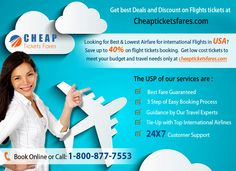 Get the Best Airfare Deal through ChapTicketsFares.com which provides cheapest flight tickets in international flights to all over the world.