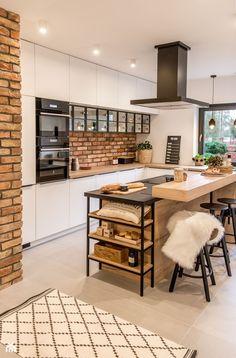 Loft Kitchen, Kitchen Room Design, Modern Kitchen Design, Home Decor Kitchen, Interior Design Kitchen, Home Decor Bedroom, New Kitchen, Home Kitchens, Design Bedroom