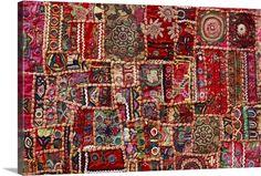 Fabric Patch, Fabric Art, Framed Art Prints, Fine Art Prints, Canvas Prints, Paw Prints, Big Canvas, Canvas Art, Textile Fiber Art