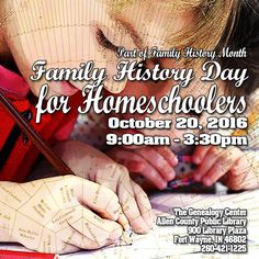 Parents and children join us for Homeschooler's day! From 9am to 3:30pm. A great way to share family history experience.