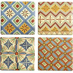 Egyptian patterns coasters