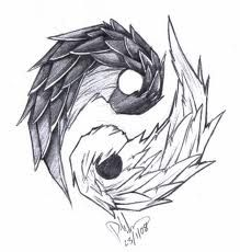 Unique Yin Yang Tattoo Designs – – Tattoo Model And Advice Cat Tattoo Designs, Tattoo Design Drawings, Pencil Art Drawings, Art Drawings Sketches, Cool Drawings, Ying Y Yang, Arte Yin Yang, Yin Yang Art, Yin Yang Tattoos