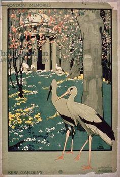 London Underground poster promoting travel to Kew Gardens, London Memories (colour litho)