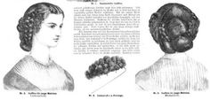 Ladies Of The 1860s: March 2012 Civil War Hairstyles, 1800s Hairstyles, Historical Hairstyles, Edwardian Hairstyles, Vintage Hairstyles, Cool Hairstyles, Civil War Fashion, Costume Accessories, Hair Pieces