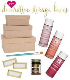 DIY - decorative storage boxes - IHeartOrganizing.com