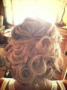 Katies wedding hair