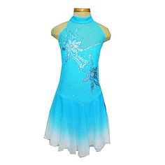 Girl's+Blue+Spandex+Figure+Skating+Dress(Assorted+Size)+–+CAD+$+152.89